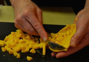 Scooping Mango